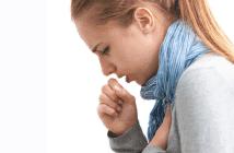 кашель с мокротой после еды