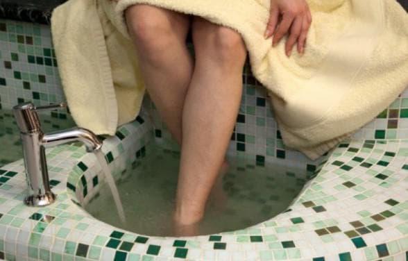 горячие ванны для ног при рините