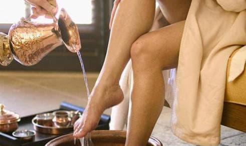 ванна для ног при фарингите беременной