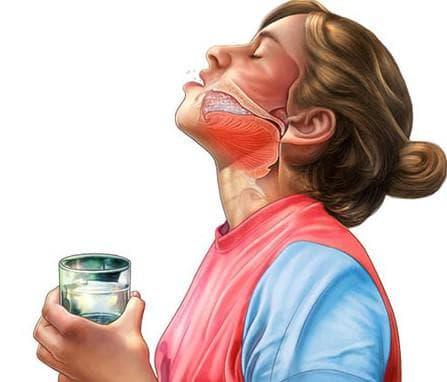 полоскания горла раствором марганцовки и хлорида калия