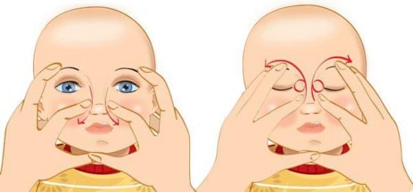 массаж носа маленькому ребёнку