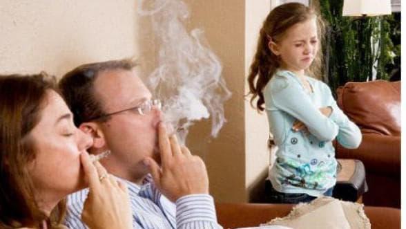 пассивное курение ребёнка вызывает бронхит