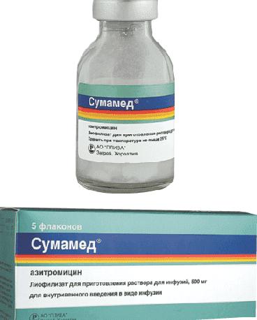 лечение ангины сумамедом