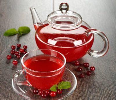 чай с клюквой для детей