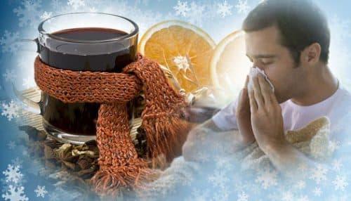 Глинтвейн от простуды и болях в горле