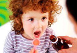 принятие сиропа ребёнком