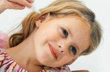 детские ушные капли при отите