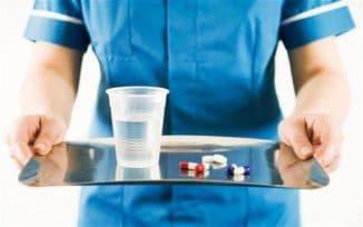 приём жидкого лекарства