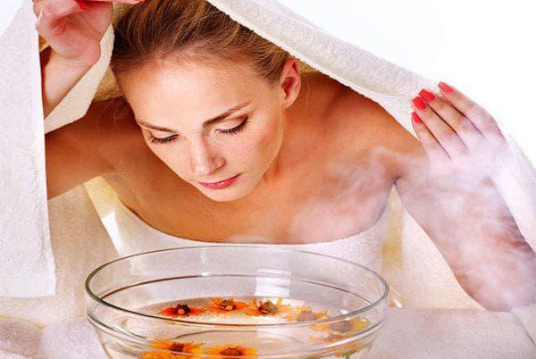 паровые ингаляции с применение воды и уксуса