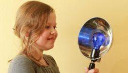прогревание уха синей лампой