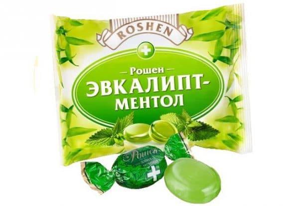 сосательные конфеты с мятой и эвкалиптом