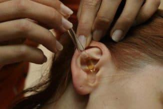 отит уха лечение каплями