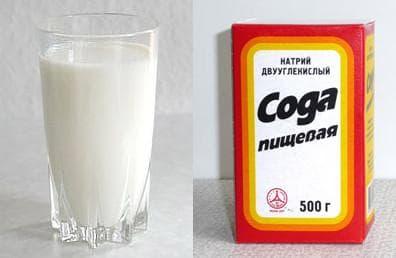 молоко и сода от кашля