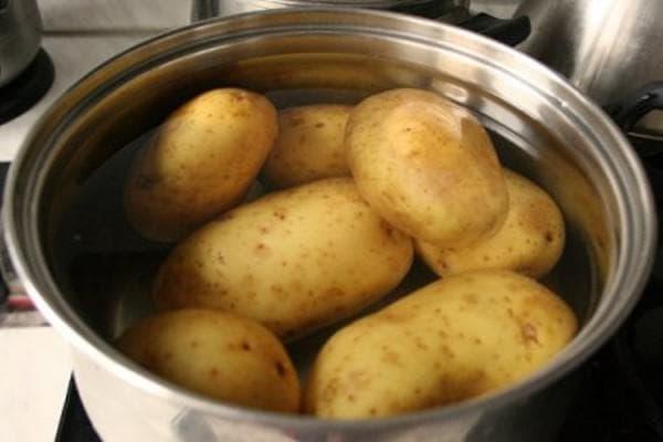 вареный картофель для обогрева пазух носа