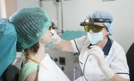Лазерное излучение ринита
