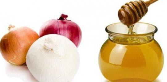 лук и мёд от бронхита