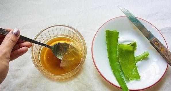 сок алоэ и растительное масло