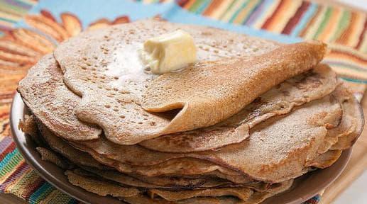 Лепешка из меда и гречки
