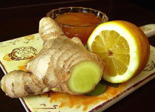 лимон с имбирем и медом