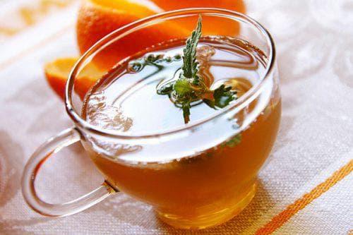 лимон с апельсином в чае
