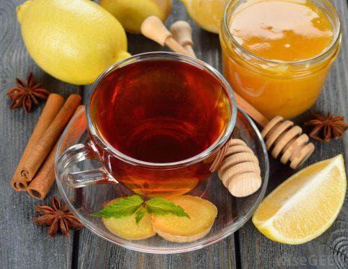 лимон с сухофруктами в чае