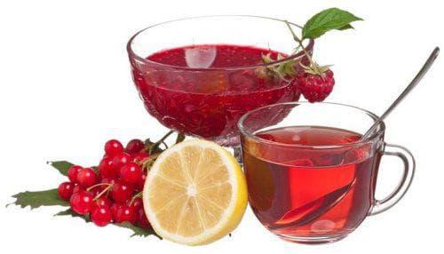 калина и чай при простуде