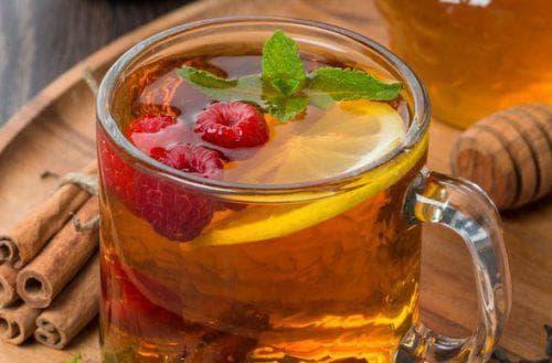 малины, мята и лимон от простуды