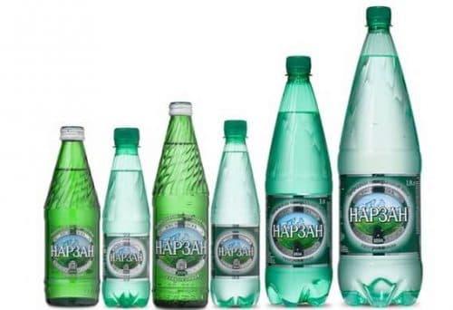 физраствор и вода Нарзан