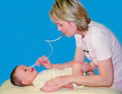 отсасывание слизи из носа