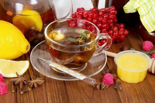 чай с лимоном для лечения гриппа