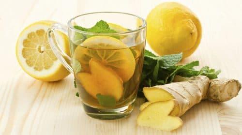 чай с имбирем и цитрусом