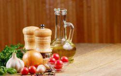 Сок лука и оливковое масло