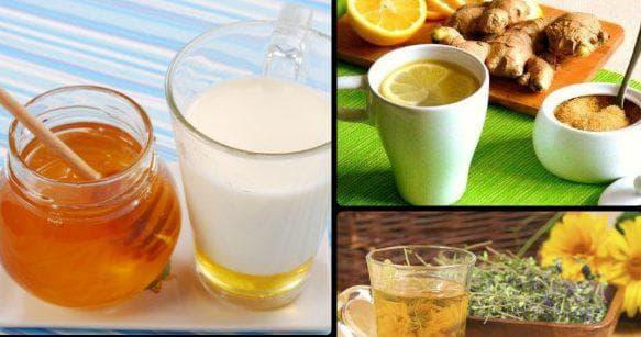 лук, мед и масло эвкалипта