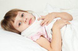 у ребёнка ангина