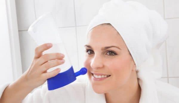 промыть нос